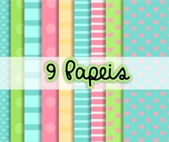 Kit Papel Candy Colors 1