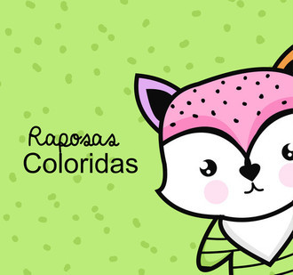 kit Raposas Coloridas