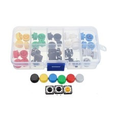Kit Push Button Com Capas Coloridas