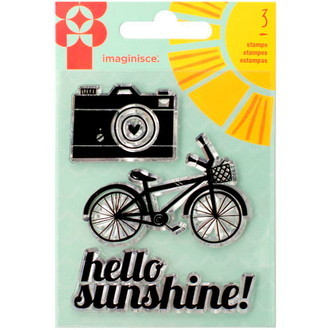 Clear Acrylic Stamp Camera and Bike SY10