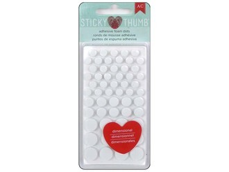 Adhesive Foam Dots - Sticky Thumb - White