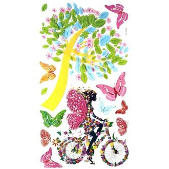 3d Wall Bicycle Stickers SY41
