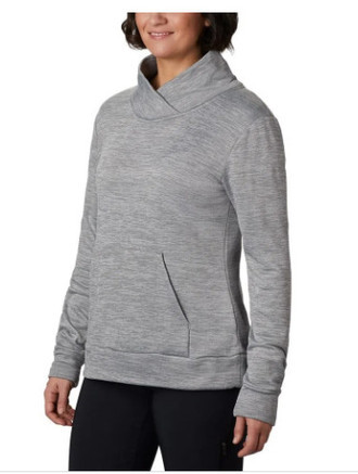 Blusa Fleece Columbia Feminimo Place to Place Cor City Grey