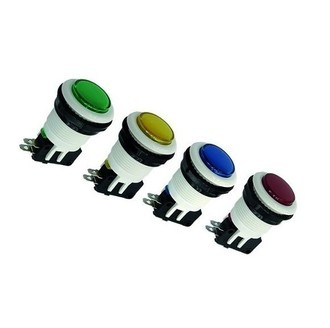 KIT COM 4x CHAVE PUSH BUTTON PBS-29 FLIPERAMA