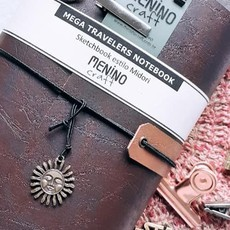 Mega Traveler´s Notebook Dark | Menino Craft - tipo Midori