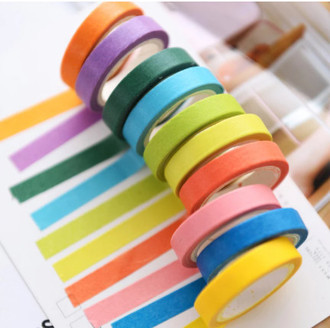 Lote com 10 unidades Washi tape tom pastel