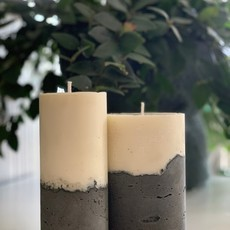 KIT - Dupla de velas com base em concreto