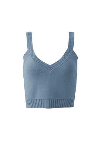 Top Cropped Bundchen Blue