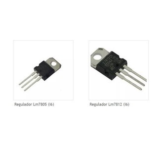 Regulador de Tensão Linear Lm7805 | Lm7812 (I6)