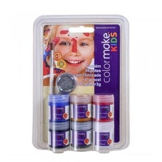 Kit Tinta Líquida Facial Colormake Kids