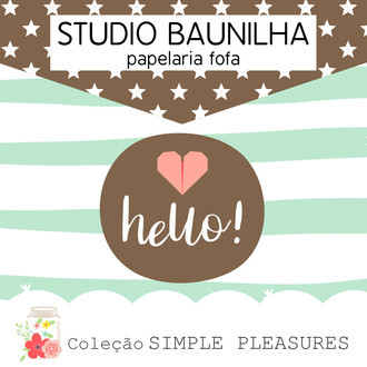 Kit Digital Simple Pleasures para Planners e Scrapbooking