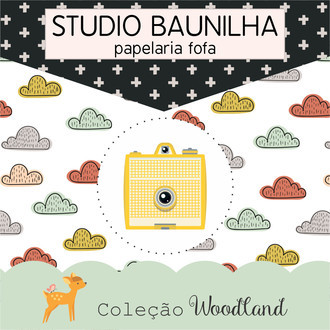 Kit Digital Woodland para Planners e Scrapbooking