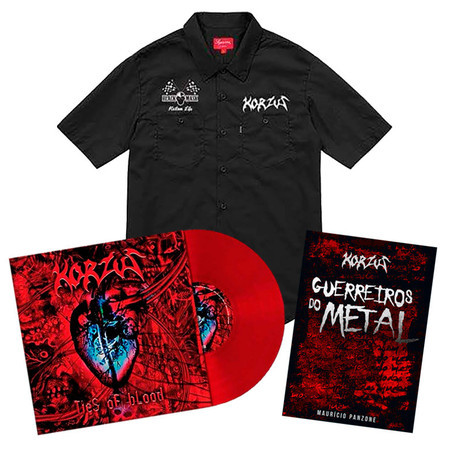 KIT Workshirt KZS + Vinil Ties of Blood + Livro Guerreiros do Metal