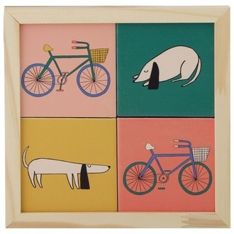 Quadro Azulejos Bikes and Dogs H26