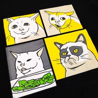 CAMISETA GATOS MEME