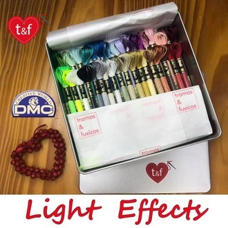 Linha DMC Light Effects + lata TeF