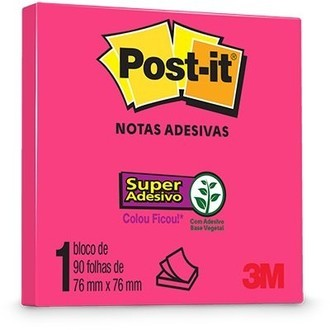 Bloco de Notas Super Adesivas Post-it 76mmx6mm