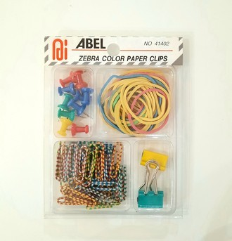 Kit Scrap - Clips zebra color - elasticos e pinos