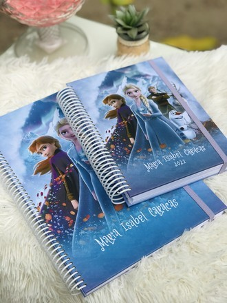 Kit Frozen - Caderno + Agenda 2021