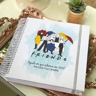 Planner anual 2021 - Capa Friends