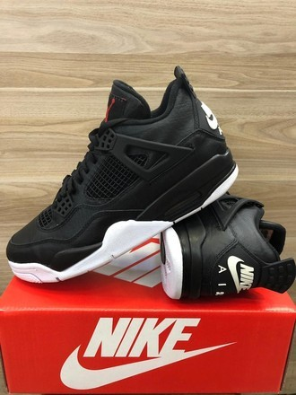 [38-43] Air Jordan 4 Black White