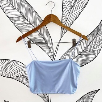 Top Fluity Azul Pastel