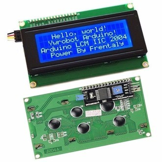 Display LCD 20x4 I2C com Fundo Azul
