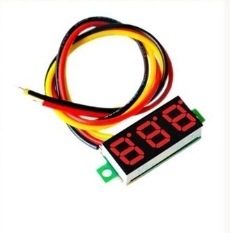 Display voltimetro 0 a 30V DC-RED