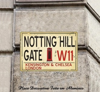 Placa de Rue Decorativa da Inglaterra Notting Hill