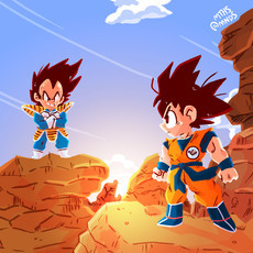 Print GOKU E VEGETA (Dragon Ball)