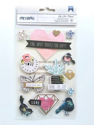 Joy - Dimensional Stickers - Remark