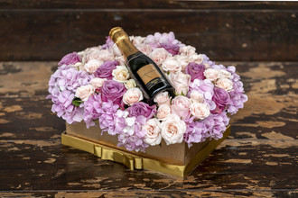 Presente rosas e mini chandon