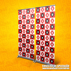 Painel Banner Roll Up Personalizado - 02 módulos - 1,60m
