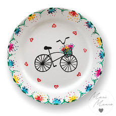 Prato decorativo Bike (19,5 x 19,5 cm)
