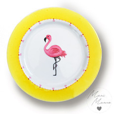 Prato decorativo Flamingo (19,5 x 19,5 cm)