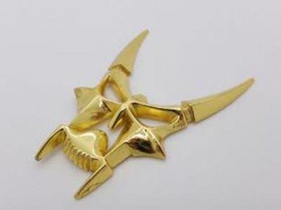 Golden Cute 3D Devil Mask Decal Sticker <em>Car</em> Bike Emblem logo Rear Front Doors