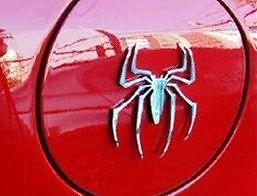 Silver Cute 3D Spider Decal Sticker <em>Car</em> Bike Emblem logo Rear Front Doors Parts
