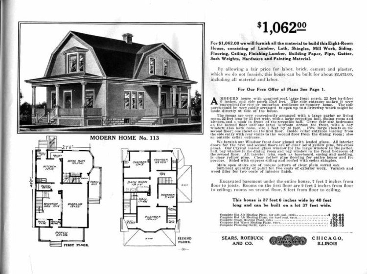 Sears catalog selling mail-order houses.