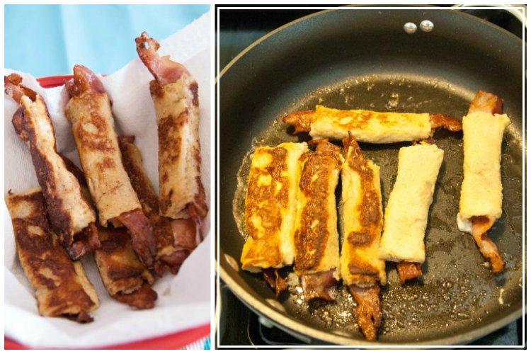 OP LvH Bacon Roll Ups Pan and Display