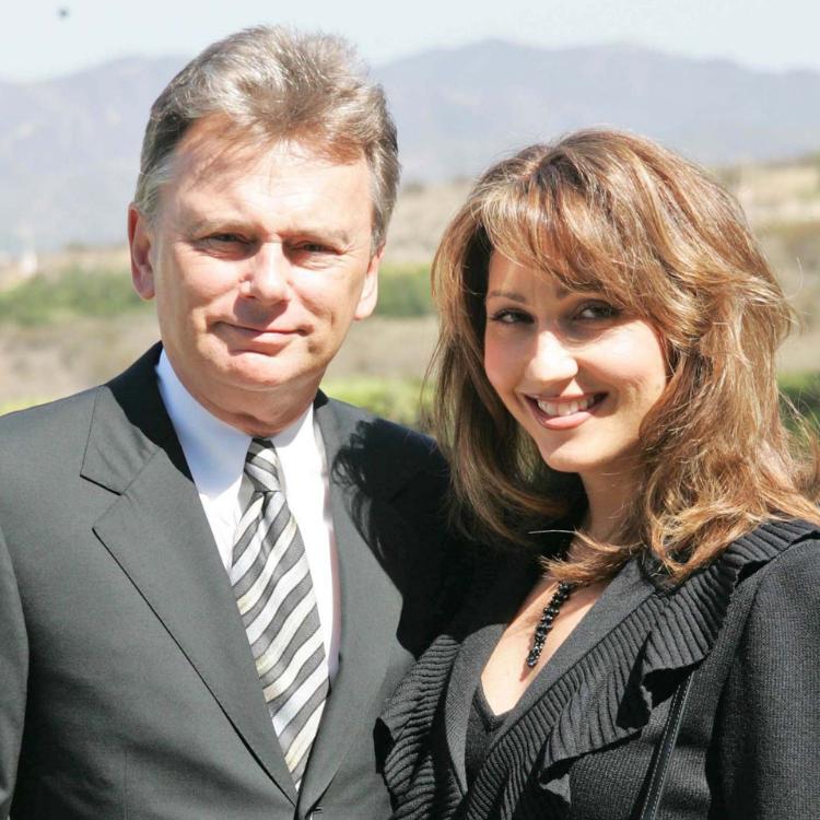 Pat Sajak and Lesly Brown