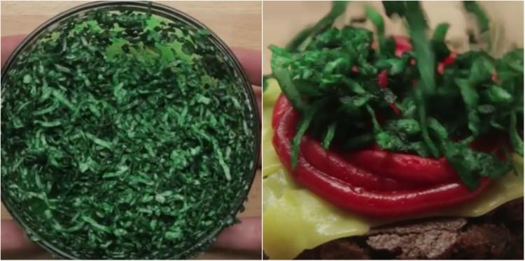 """Dye shredded coconut green to make """"lettuce"""""""