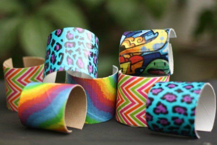 toilet paper bracelet cuff