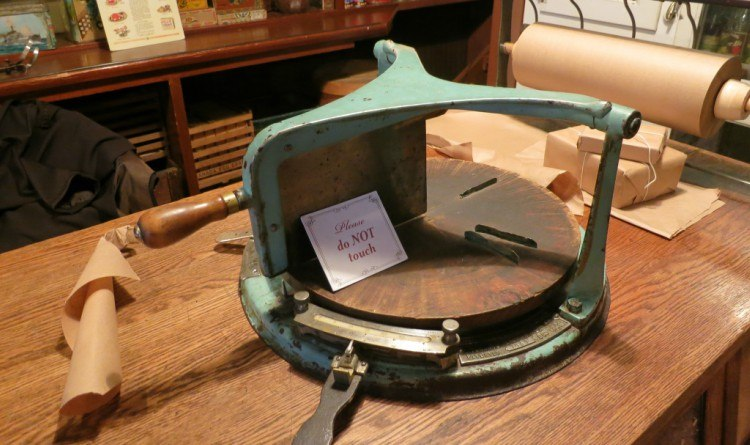 antique cheese slicer