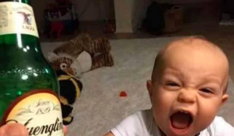 upset kids beer