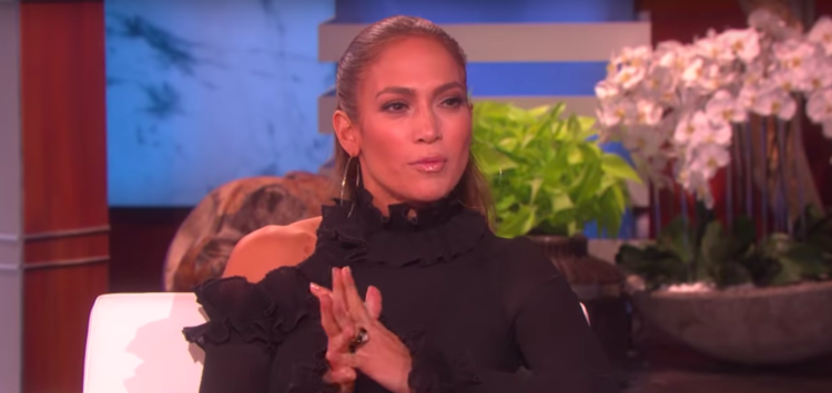 Image of J Lo on Ellen Show