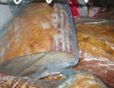frozen bread in bags