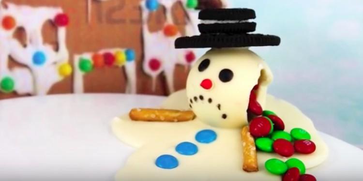 dessert melting snowman