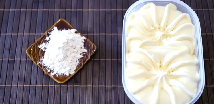 Two ingredients to make homemade bread,