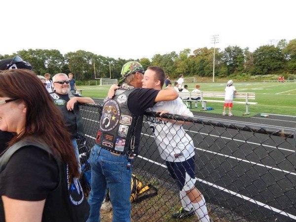 Bikers at Sean's soccer game.