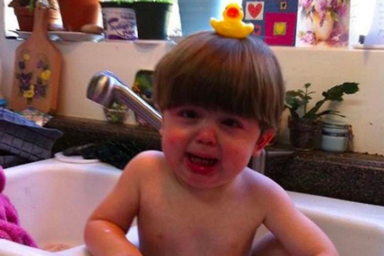 upset kids rubber duck